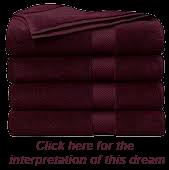 Jesus as burgundy towels